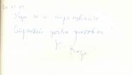 Ген. Кирил Радев, 30.01.2001 г.